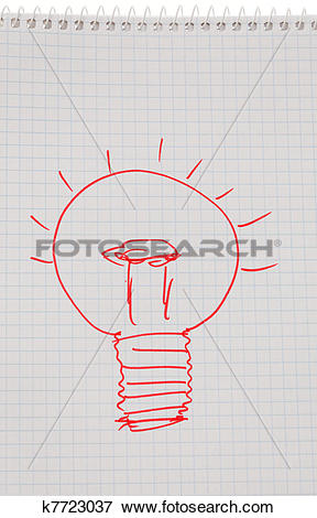 Picture of incidence and ideas with light bulb. k7723037.