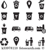 Waste incineration plant Clipart and Illustration. 14 waste.