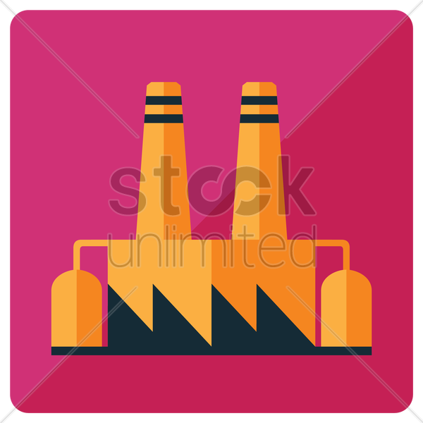 Free Incinerator type electric plant Vector Image.