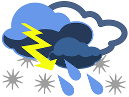 Inclement weather clip art.