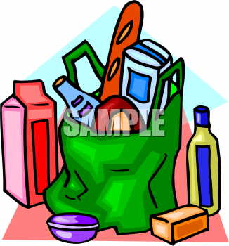 Groceries Clipart Picture.