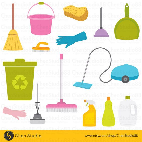 House Cleaning vector.