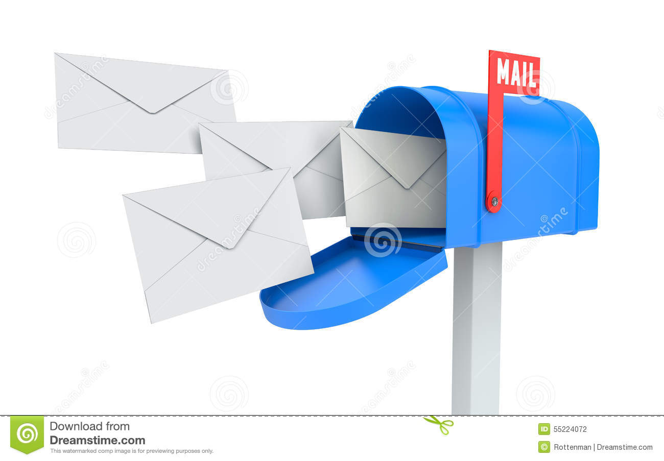 Incoming Mail / Mailbox Stock Photos.
