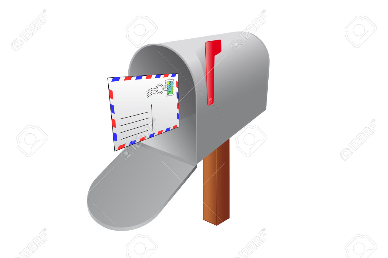 Mailbox With An Incoming Letter Royalty Free Cliparts, Vectors.