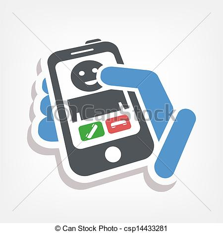 Vector of Incoming call icon csp14433281.