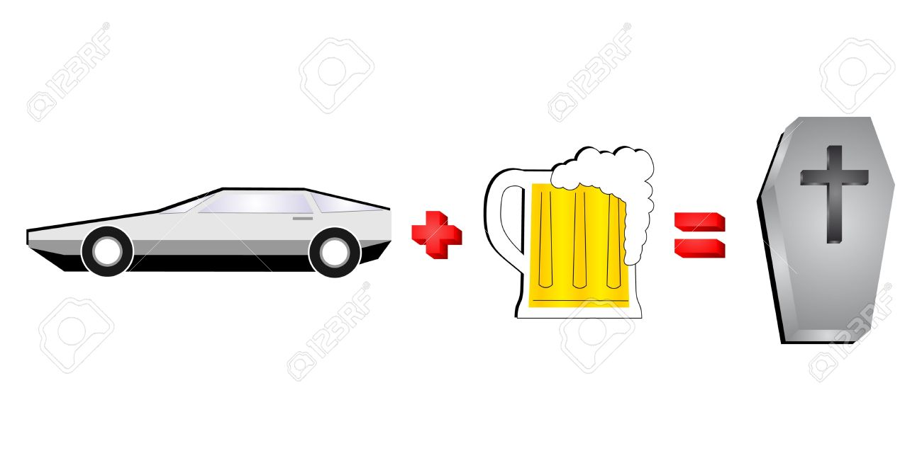 Alcohol And Car Are Incompatible Royalty Free Cliparts, Vectors.