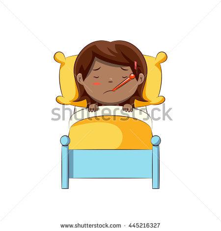 Sick Woman In Bed Stock Vectors, Images & Vector Art.