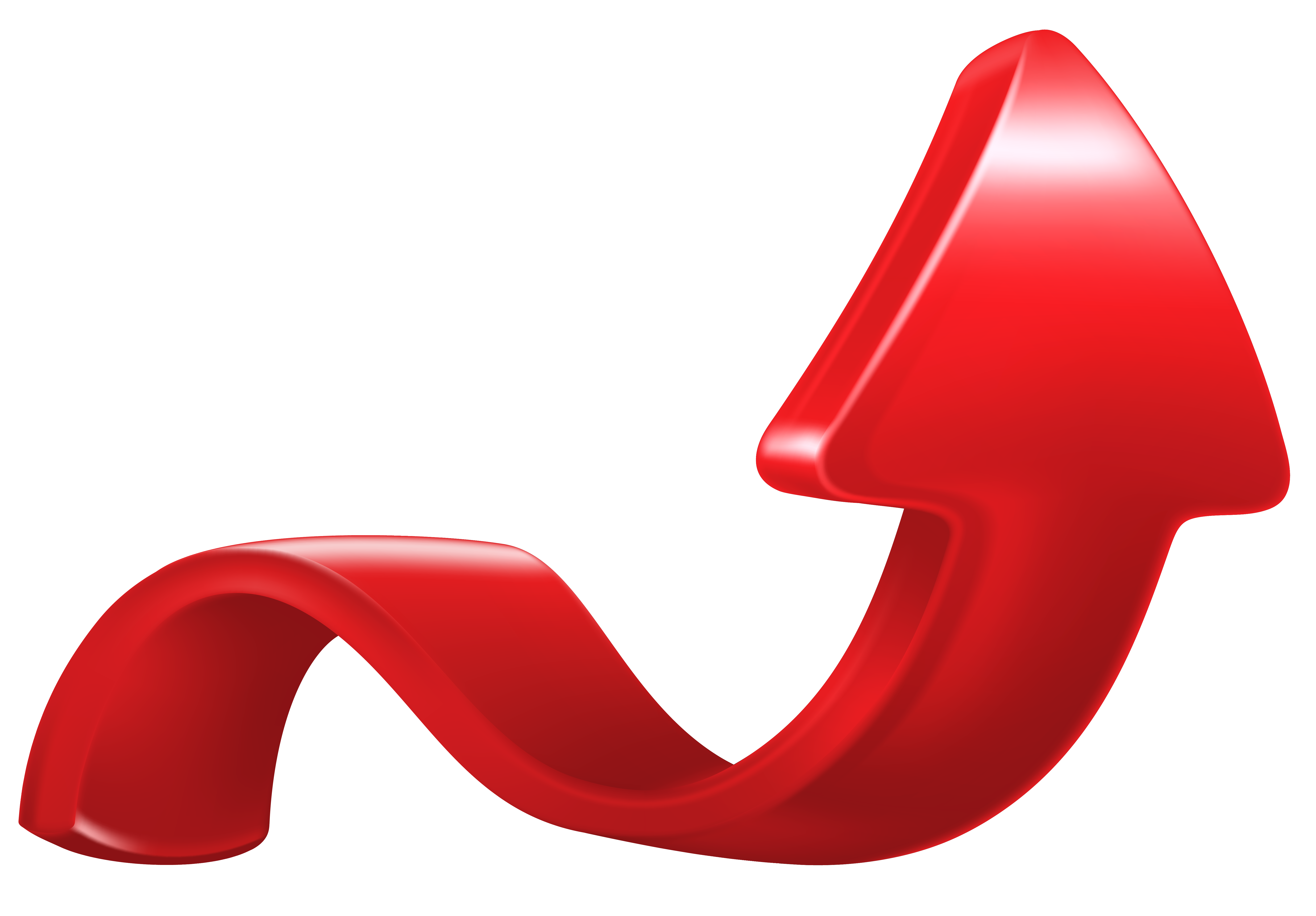Increase Arrow Red PNG Clip Art Image.