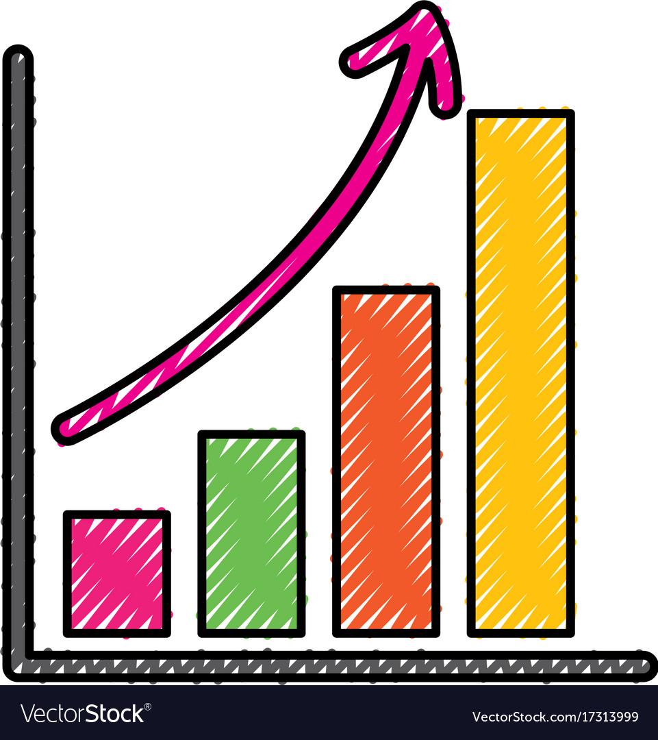 Business growth bar graph finance increase.