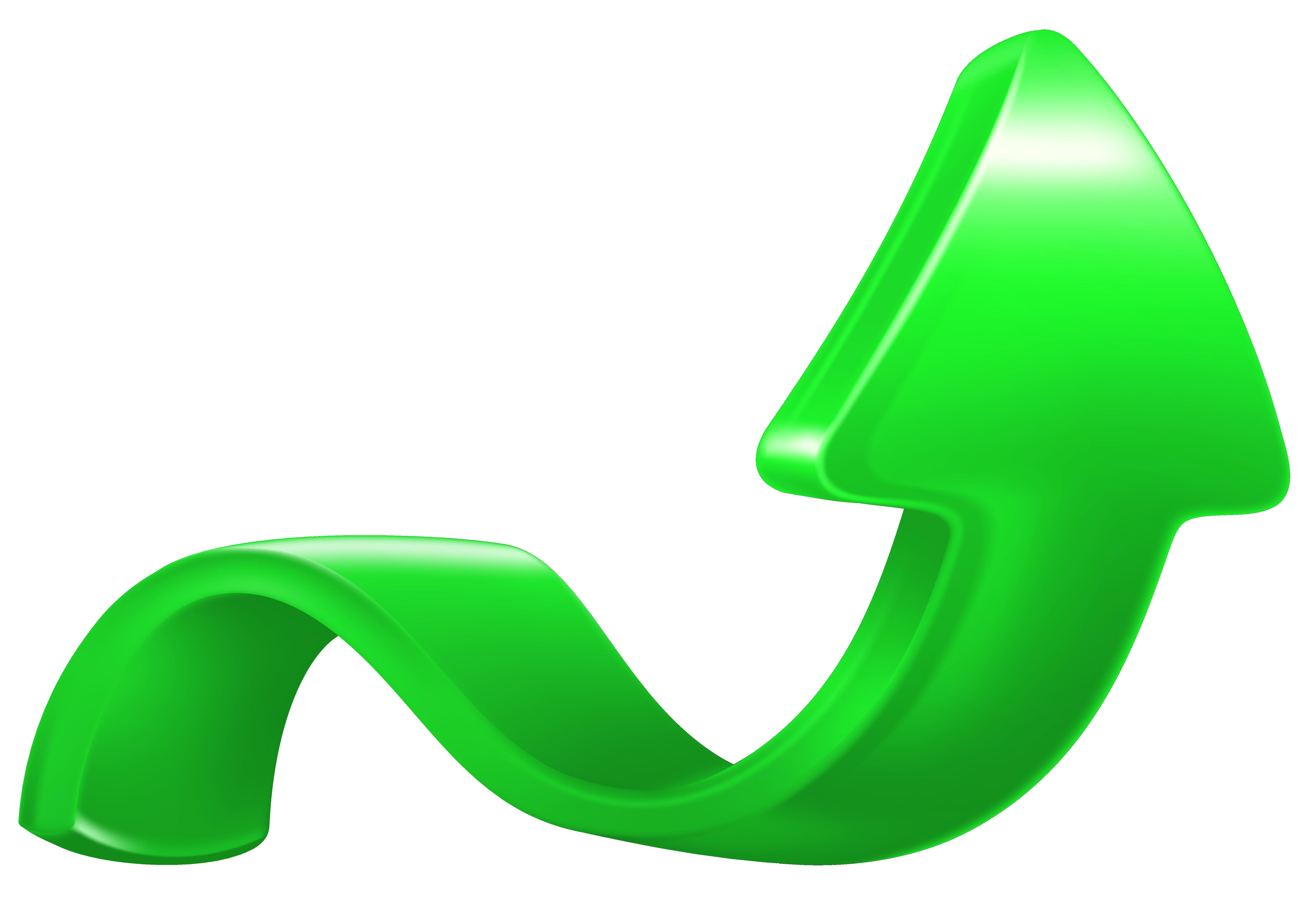 Increase Arrow Green PNG Clip Art Image.