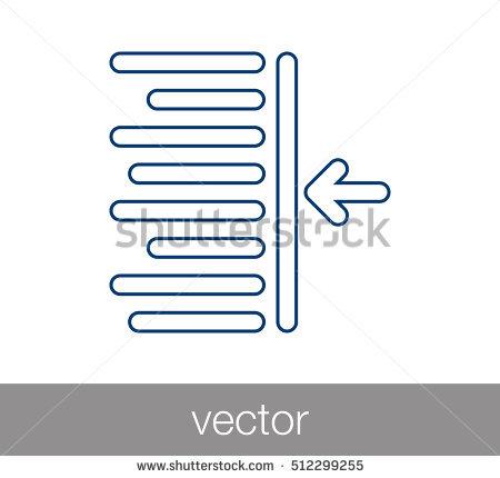 Decrease Indent Icon Stock Vector 521719966.