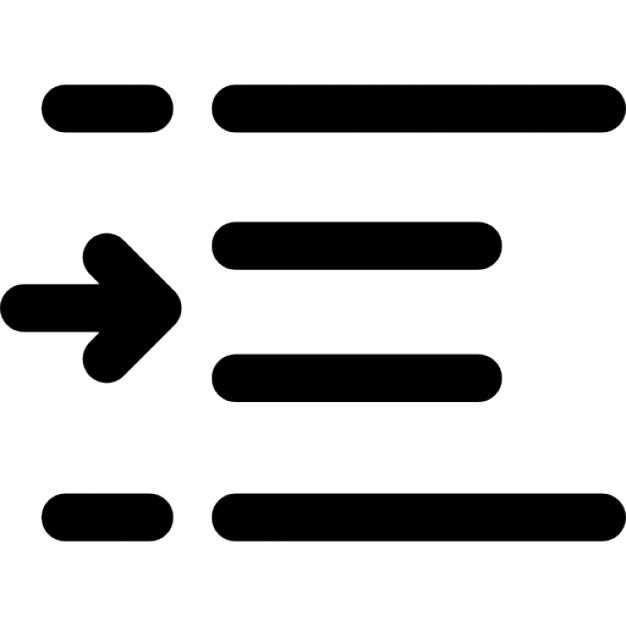 Indent increase interface symbol Icons.