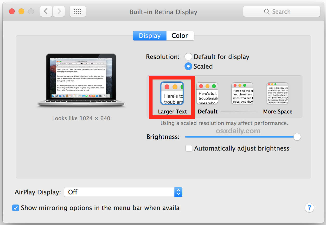 How to Increase All System Font Size in Mac OS X.