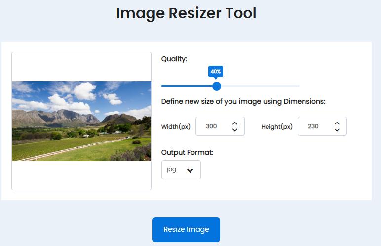 Image Resizer.