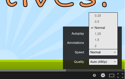 How to change the playback speed of a Youtube video (two methods.