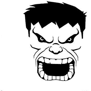 CCI Hulk Face Angry Avengers Marvel Comics Decal Vinyl Sticker.