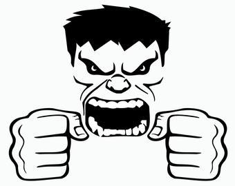 Hulk face.