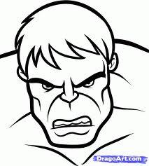 Incredible Hulk Face Drawing.