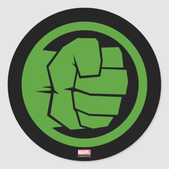 Incredible Hulk Logo Classic Round Sticker.