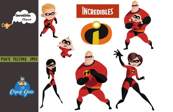 The Incredibles 2 clipart, the incredibles, incredibles party.