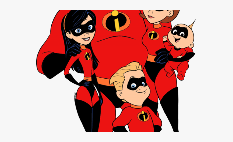 The Incredibles Clipart Family.