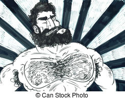 Hairy chest Clip Art Vector and Illustration. 20 Hairy chest.