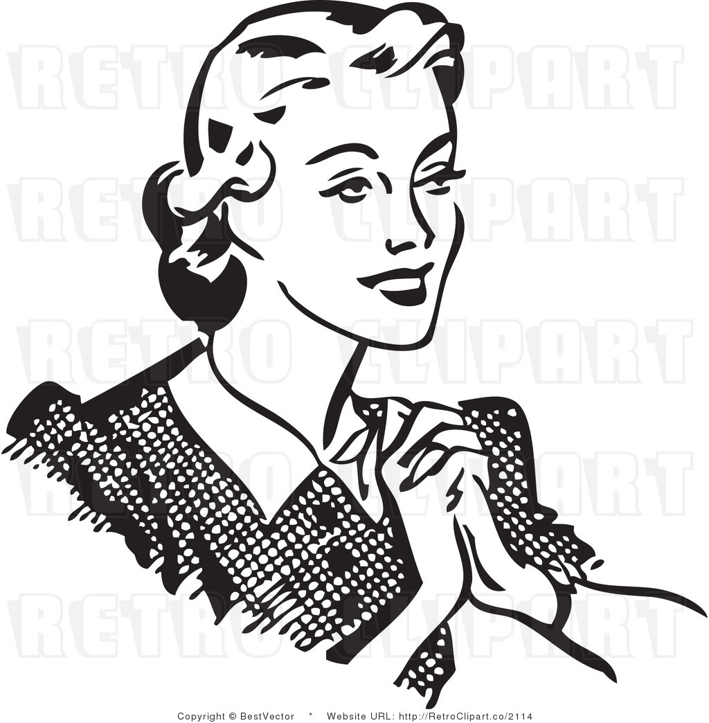 Women Black And White Clipart.
