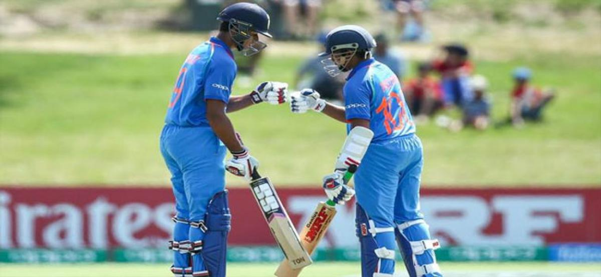 U19 World Cup: India win first game by 100 runs.