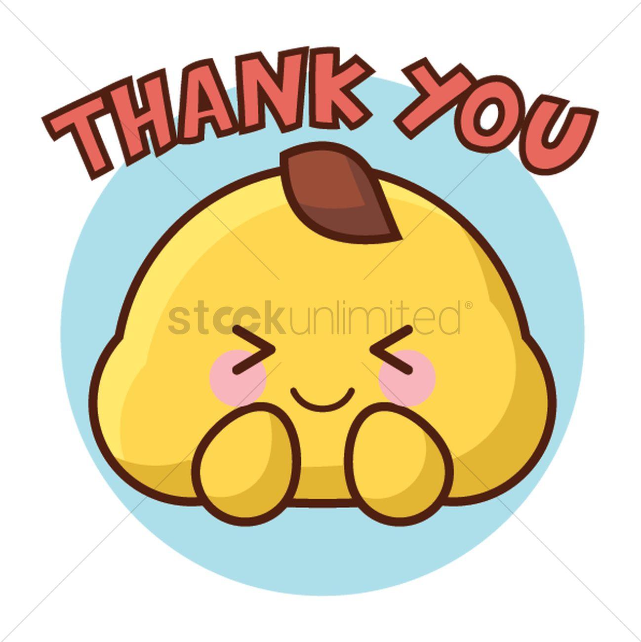 Cartoon character saying thank you Vector Image.