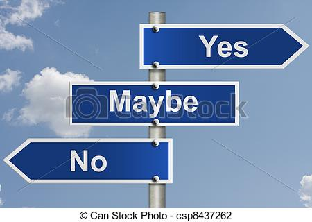 Clip Art of Indecision.