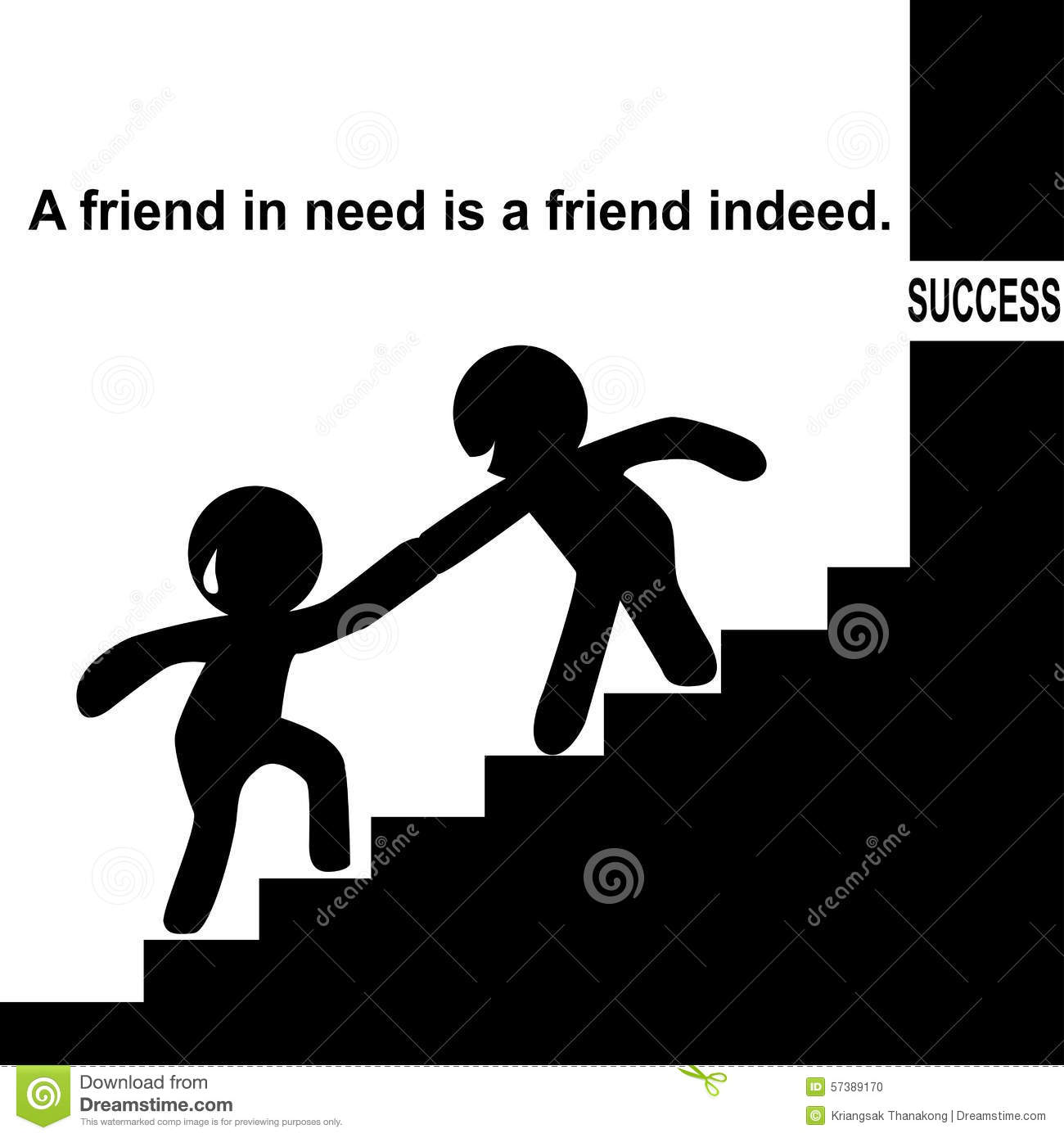 A friend in need is a friend indeed clipart.