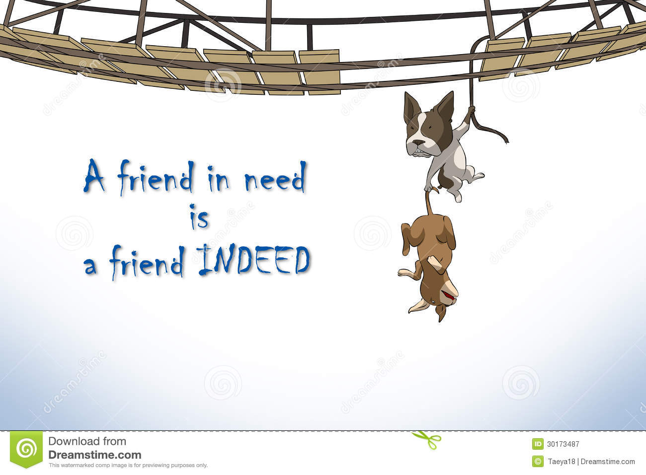 Friend Indeed Stock Illustrations.