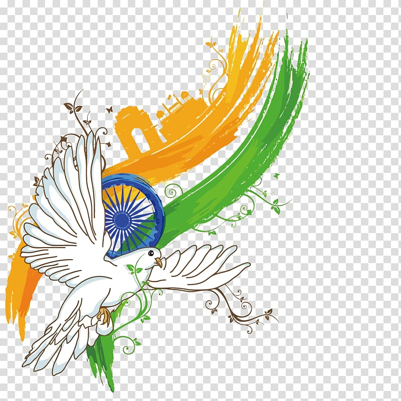 Indian Independence Day Poster Illustration, dove India Independence.