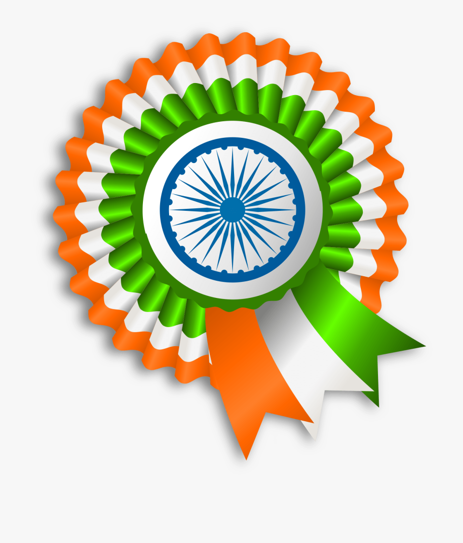 Ribbon India Flag.