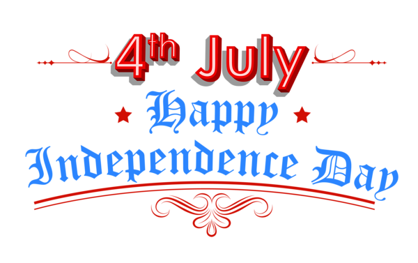 Happy independence day clipart.