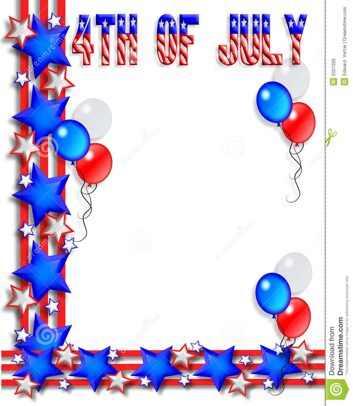 independence day clipart free border - Clipground