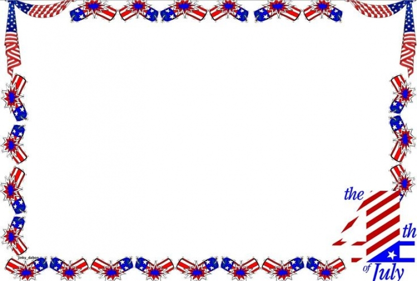 a set of independence day themed lined paper and page borders for.