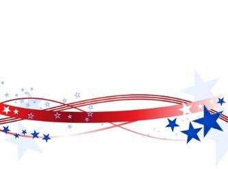 Printable Independence Day Border Clipart.