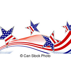 EPS Vector of Blue and red stars and stripes.
