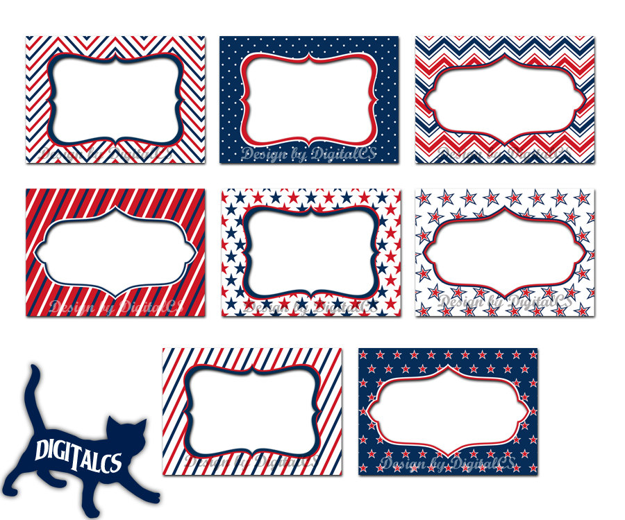 4th of July Clipart frames digital frame clipart clip art.