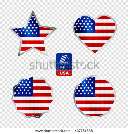 Happy Fourth Of July. Vector Elements Set For American.