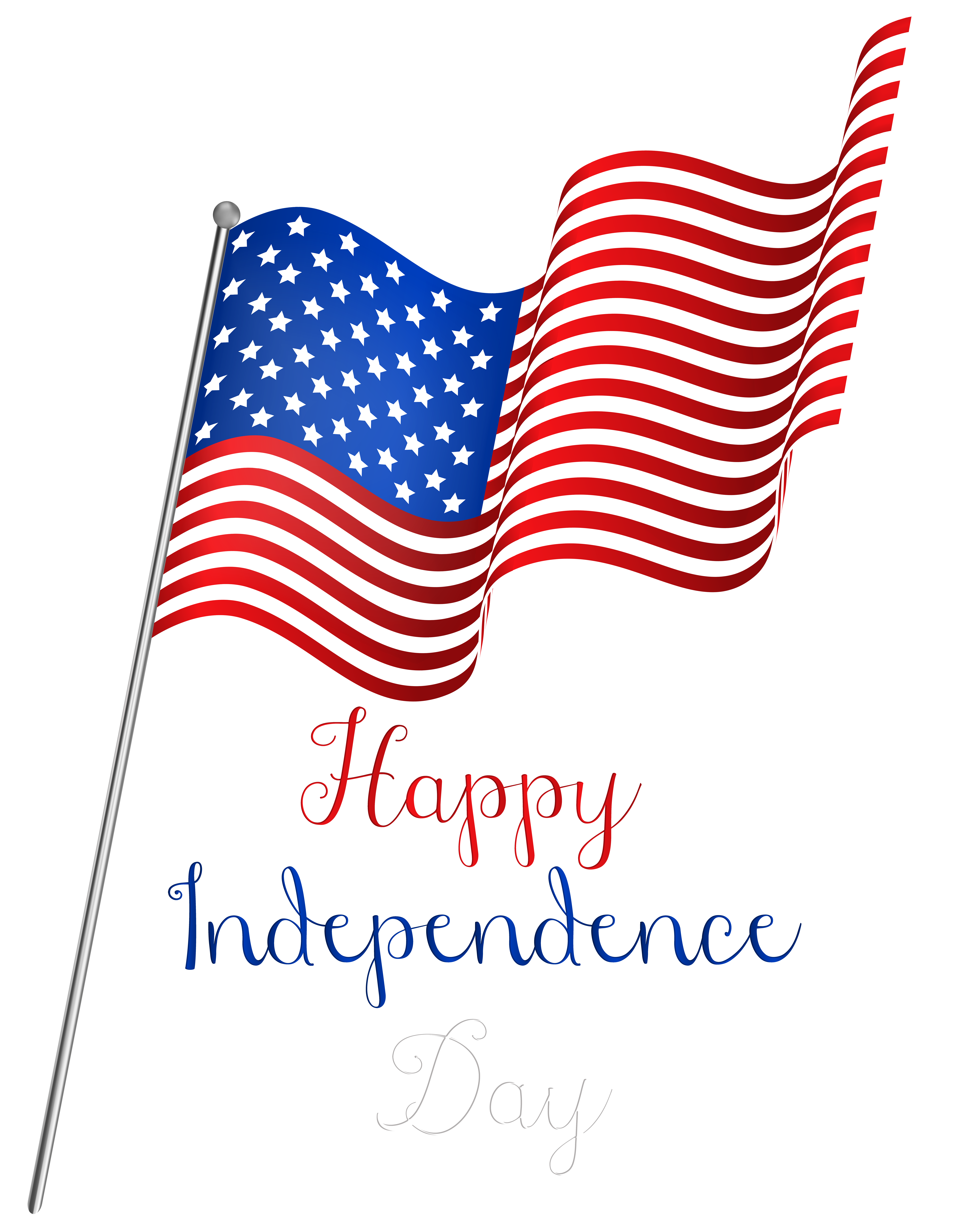 USA Independence Day Flag PNG Clipart.