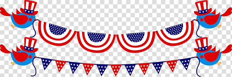 Independence Day , Bunting Flag Pull transparent background.