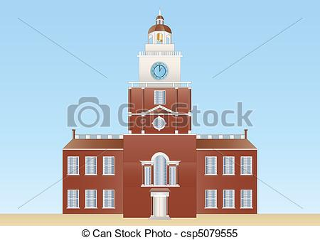 Stock Illustrations of Independence hall in Philadelphia.