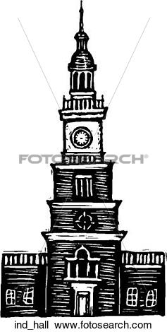 Clipart of Independence Hall ind_hall.