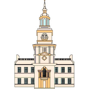 Independence Hall 1 clipart, cliparts of Independence Hall 1 free.