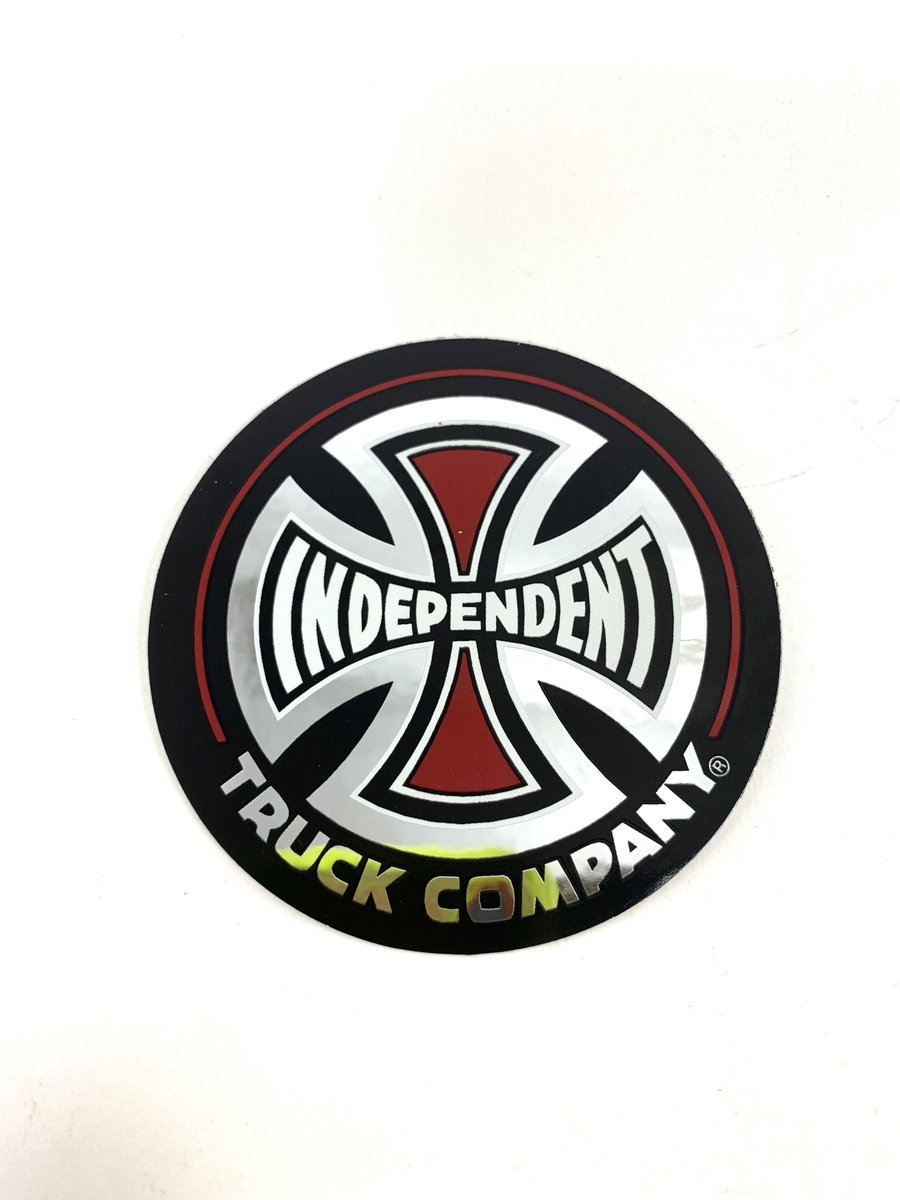 "Independent Trucks Foil Black Red Cross Logo 3"" Sticker."