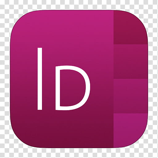 IOS Icons Updated , InDesign, purple D logo transparent background.