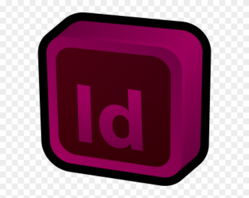 Adobe Indesign Icon 3d.