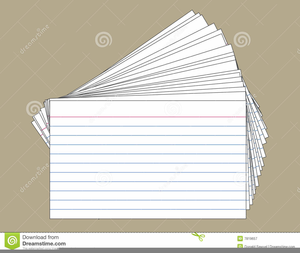 Index Card Clipart.